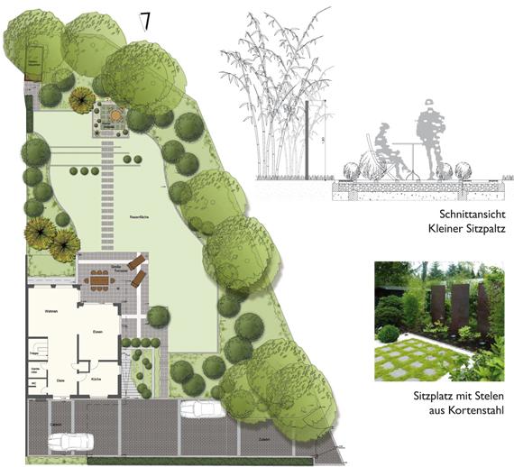 fence house design kleinen garten neu gestalten. Black Bedroom Furniture Sets. Home Design Ideas